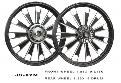 Click to Zoom Image of ALLOY WHEEL BLACK D2 ROYAL ENFIELD KINGWAY