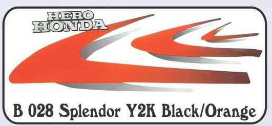 COMPLETE STICKER KIT SPLENDOR NM ZADON- Motorcycle Parts