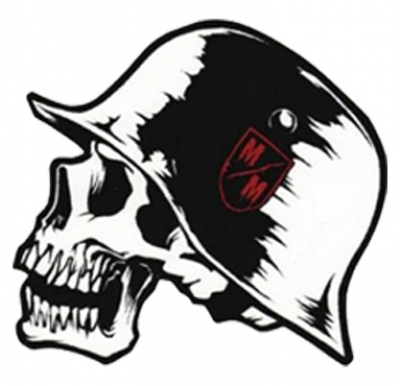 Skull With Hat Fancy Sticker 4inchesx4inches Motorcycle Parts For