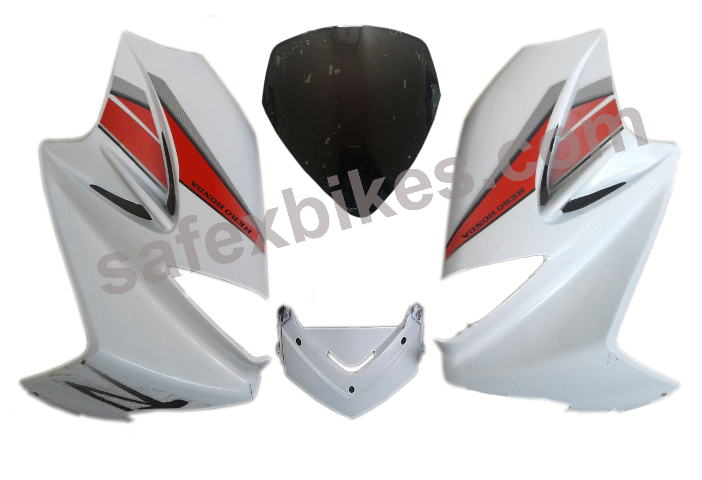 Front Fairing Visor Karizma R 2014 Set Of 4 With Oet Glass Zadon Hero Honda Motorcycle Parts For Motocorp V2