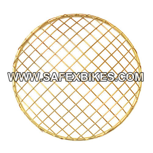 HEAD LIGHT JAALI / GRILL GOLDEN NET TYPE FOR ROYAL ENFIELD BULLET ZADON