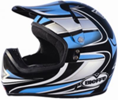 HELMET SB-16 STEELBIRD MOTO CROSS-X BLACK FULL FACE