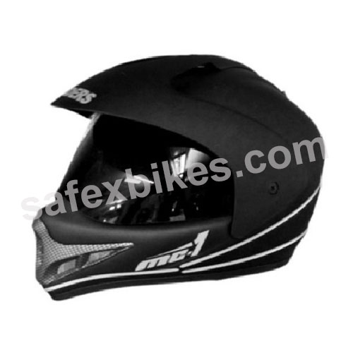 Click to Zoom Image of GLIDERS - MC1 OFF ROAD/SPORT STYLE FULL FACE MOTOCROSS HELMET MATT BLACK