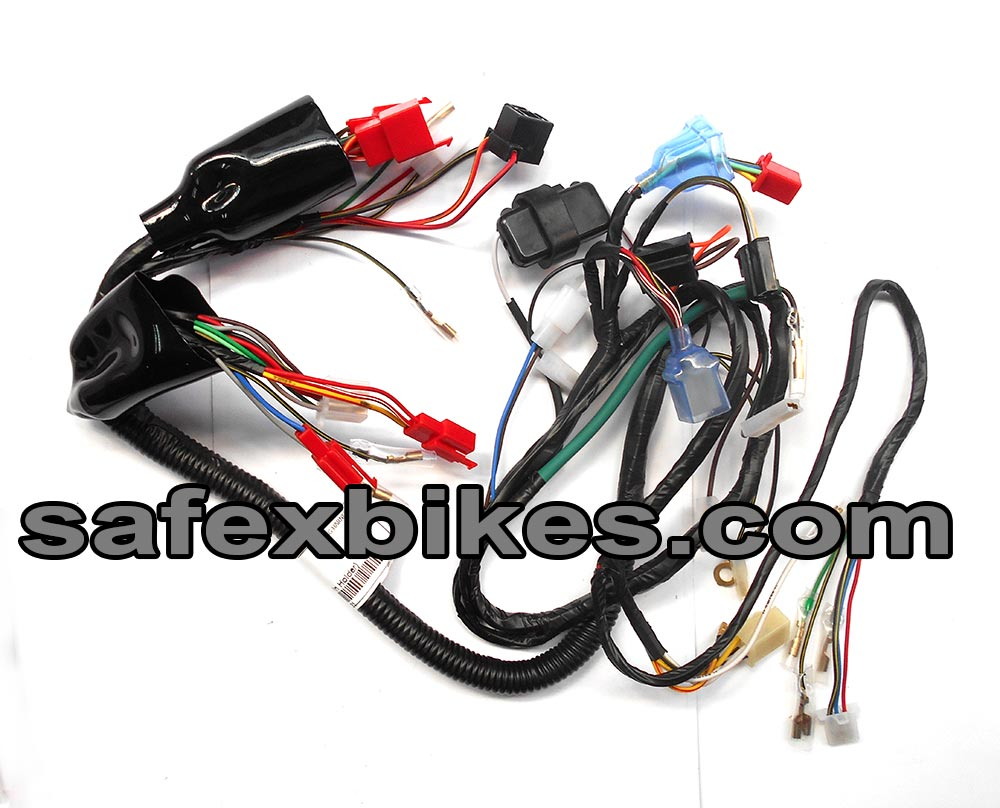 WIRING HARNESS CT100 CC KS (WITH 3 PIN HOLDER) SWISS- Motorcycle Parts For  Bajaj CT 100