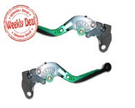 RIDE IT ADJUSTABLE LEVER SET FOR MOTORCYCLE (GREEN)