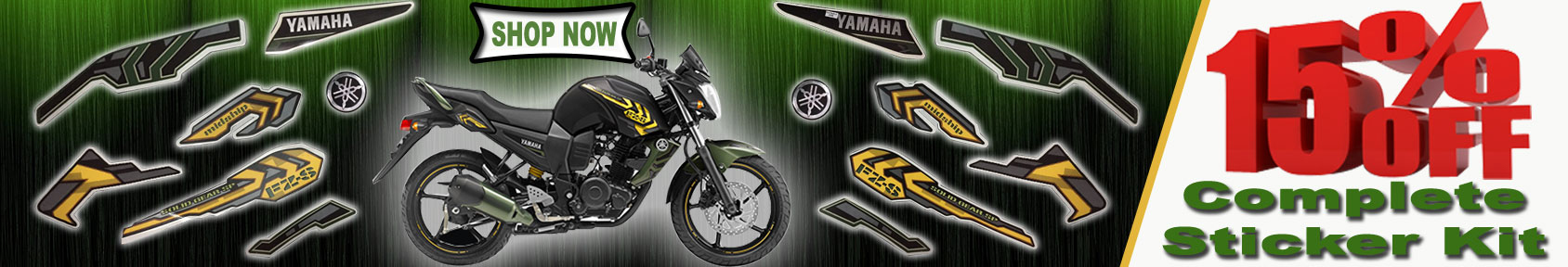 Special offers on Genuine Motorcycle Spare Parts And Accessories - 15percent off on complete sticker kit