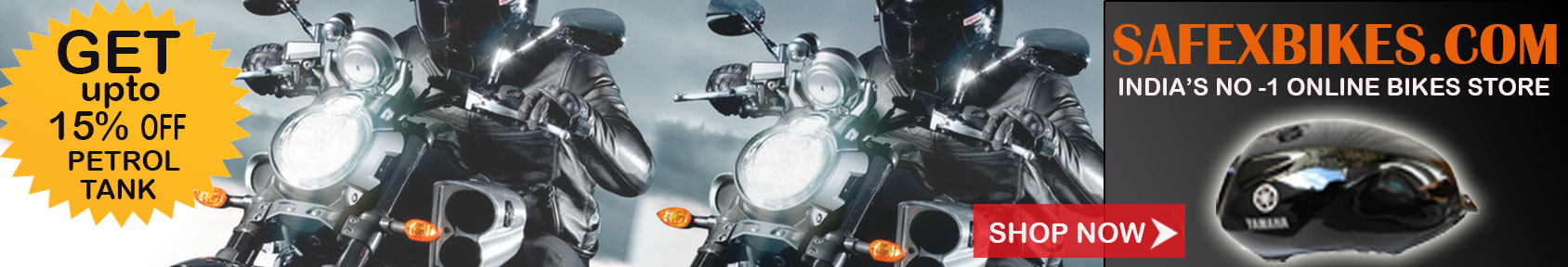 Special offers on Genuine Motorcycle Spare Parts And Accessories - Buy Petrol tank at upto 15percent discount