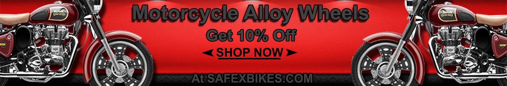 Special offers on Genuine Motorcycle Spare Parts And Accessories - Get alloy wheel at 10percent discount